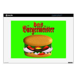 piel del ordenador portátil del das Burgermeister  Portátil Calcomanías