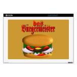 piel del ordenador portátil del das Burgermeister  Skins Para 43,2cm Portátil