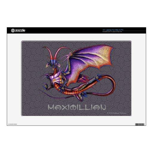Piel del ordenador portátil del dragón del monarca portátil calcomanía