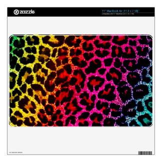 Piel del ordenador portátil del estampado leopardo calcomanía para MacBook air