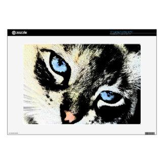 Piel del ordenador portátil del gato de la tinta calcomanías para portátiles