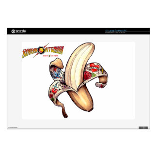 Piel del ordenador portátil del plátano de Hannah Calcomanías Para 38,1cm Portátiles