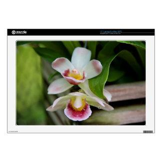 Piel del ordenador portátil - orquídea en abanico portátil calcomanía