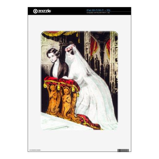 """Piel del personalizado del iPad """"de la boda"""" Calcomanías Para El iPad"""