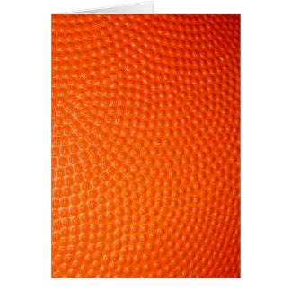 Piel del primer del baloncesto tarjeta de felicitación