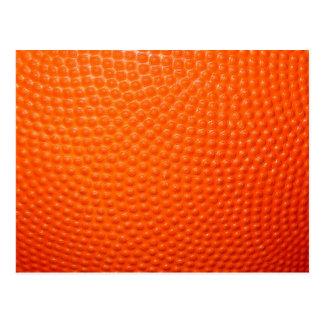 Piel del primer del baloncesto tarjetas postales