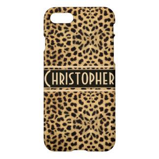 Piel del punto del leopardo personalizada funda para iPhone 7