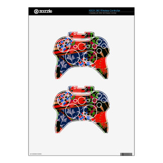 piel del regulador de Xbox 360 con collage Mando Xbox 360 Calcomanía