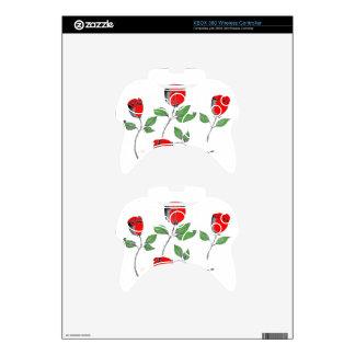 Piel del regulador de Xbox 360 con Rosese Mando Xbox 360 Skin