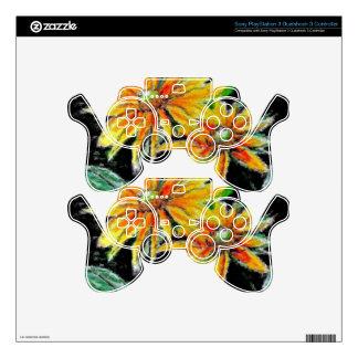 Piel del regulador PS3 con arte del girasol Mando PS3 Skins