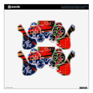 Piel del regulador PS3 con collage brillante Mando PS3 Calcomanía