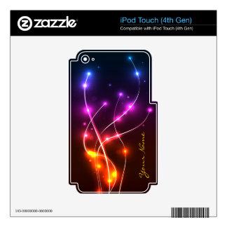 Piel del reproductor Mp3 del diseño gráfico 7 Skins Para iPod Touch 4G
