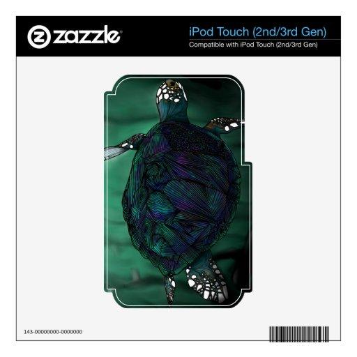 Piel del tacto de iPod de la tortuga de mar iPod Touch 3G Skin