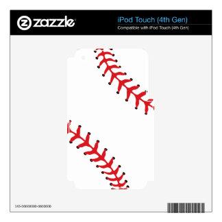 Piel del tacto de iPod del béisbol/del softball iPod Touch 4G Skin