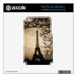 Piel del tacto de París iPod (4thGen) iPod Touch 4G Calcomanía