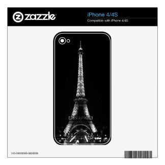 Piel del teléfono celular de la torre Eiffel Calcomanías Para iPhone 4