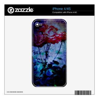 Piel del teléfono de los rosas de la noche calcomanía para el iPhone 4