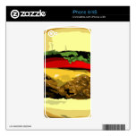 Piel del teléfono del cheeseburger skins para eliPhone 4S