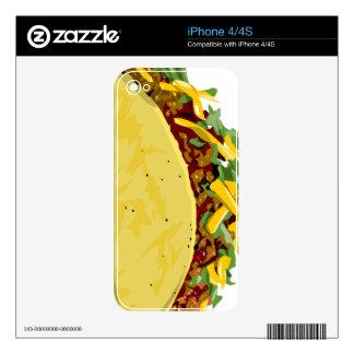 Piel del teléfono del Taco iPhone 4 Skins