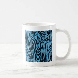 Piel del tigre de las azules turquesas tazas de café