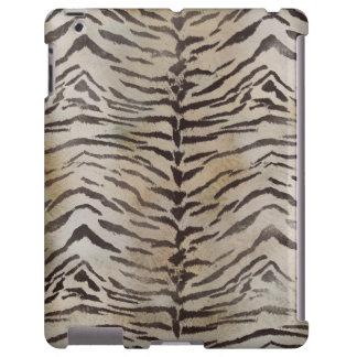 Piel del tigre en marfil funda para iPad
