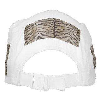 Piel del tigre en marfil gorra de alto rendimiento
