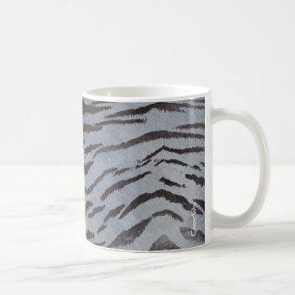 Piel del tigre en pizarra azul taza