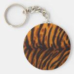 Piel del tigre llaveros personalizados