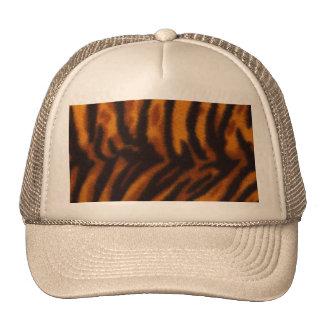 Piel del tigre o plantilla rayada negra de la gorra
