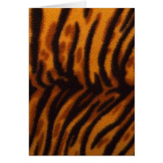 Piel del tigre o plantilla rayada negra de la tarjeta de felicitación