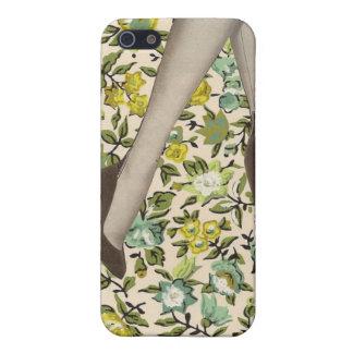 Piel del vintage del iPhone floral 4 de las flores iPhone 5 Carcasa