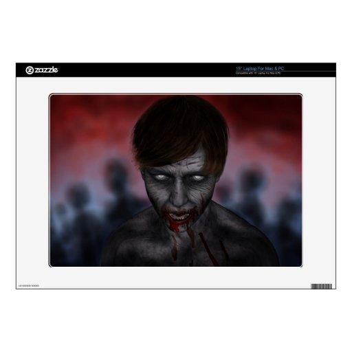 Piel del zombi del mac y del ordenador portátil portátil 38,1cm skin