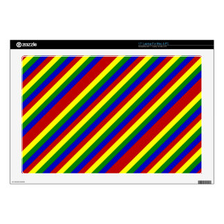 Piel diagonal del ordenador portátil de los calcomanía para 43,2cm portátil