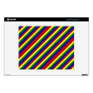 Piel diagonal del ordenador portátil de los portátil skins