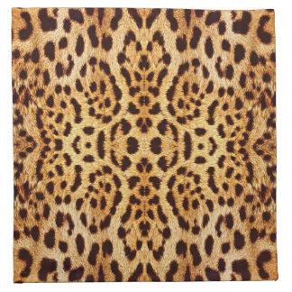 Piel elegante del estampado leopardo servilleta de papel