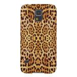 piel elegante del leopardo carcasas de galaxy s5