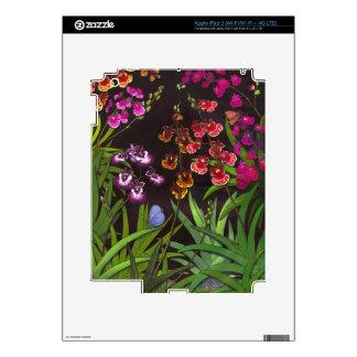 Piel equitante de Zazzle de las orquídeas de iPad 3 Skins