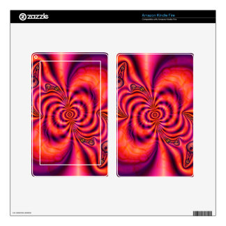 Piel espiral   celular de la tableta skins para kindle fire