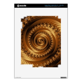 Piel espiral juliana de oro de la tableta del frac iPad 3 skin