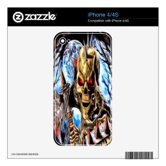 Piel esquelética del iPhone 4 del guerrero Skins Para eliPhone 4