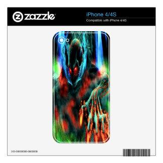 Piel esquelética malvada del iPhone 4 iPhone 4S Calcomanías