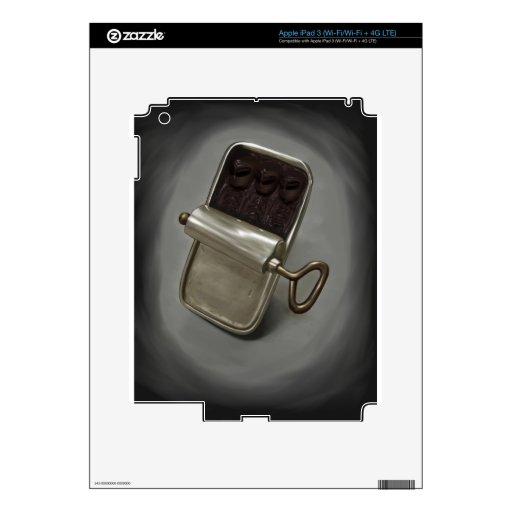 Piel extranjera de Zazzle de las sardinas Pegatina Skin Para iPad 3