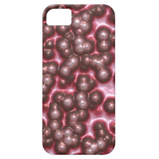 Piel extranjera enferma roja burbujeante iPhone 5 fundas