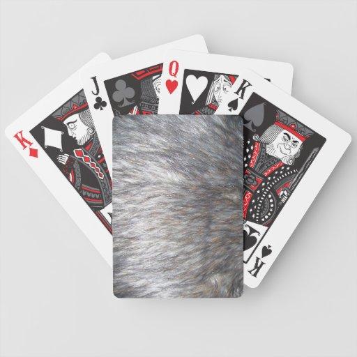 Piel falsa baraja de cartas