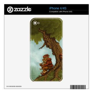 piel feliz del iPhone del enano del árbol Skins Para eliPhone 4