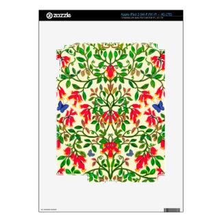 Piel floral de Zazzle de las vides de la trompeta Pegatinas Skins Para iPad 3