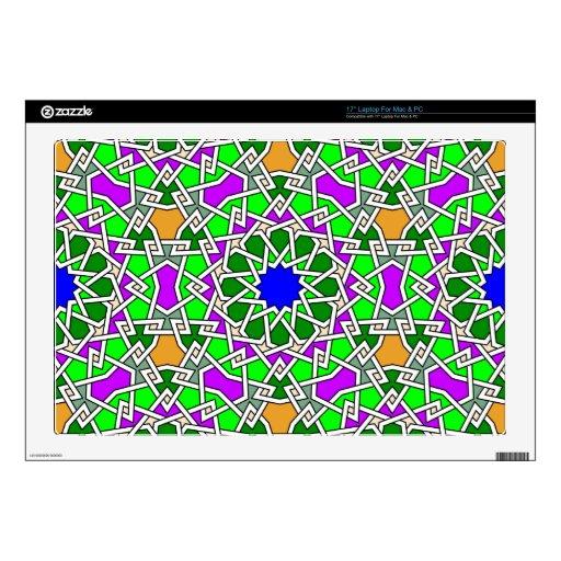 Piel geométrica islámica del ordenador del modelo portátil 43,2cm skins