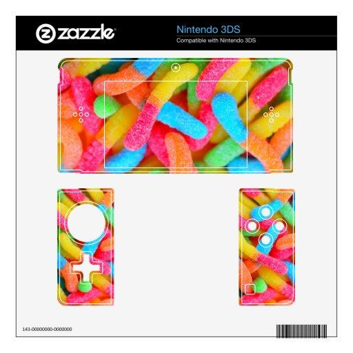 Piel gomosa de Nintendo 3DS de los gusanos del col Nintendo 3DS Skin