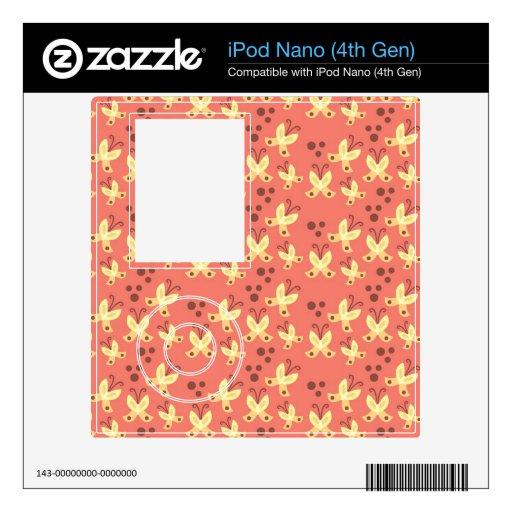 Piel ideal del iPod nano de la mariposa Skins Para iPod Nano 4G