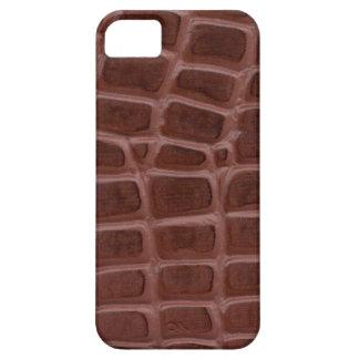 Piel impresa bronceada de Croc iPhone 5 Funda